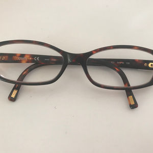 Chaps Glasses Frames Brown Square Thick Rimmed